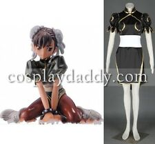 Street Fighter II Cosplay Costume - Chun Li Outfit 2nd Black color