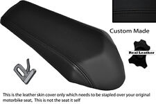 BLACK STITCH CUSTOM FITS DERBI GPR 50 125 UNDERSEAT EXHAUST 07-13  REAR COVER
