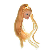 """Doll Head Golden Long Straight Hair for 11"""" Barbies Dolls Fashion Style"""