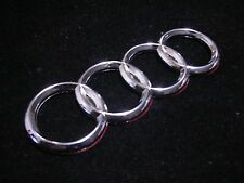 NEW 96-01 AUDI CHROME 4 RINGS REAR Trunk Boot Badge Emblem A3 A5 A4 A6 A8 5.4""