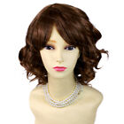 Lovely Short Wig Curly Light Brown Summer Style Skin Top Ladies Wigs WIWIGS UK