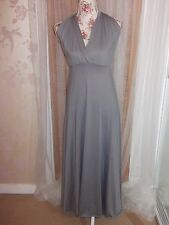Handsome & Honey Ladies Size L Silver Grey Long Halterneck Wrap Party Dress NEW