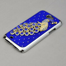 Luxury Peacock Crystal Bling Hard Case Cover for Samsung Galaxy Note 2 N7100
