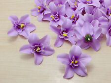 Wholesale 50pcs purple 8cm Cartland Artificial Thai Orchid Silk Flowers Heads