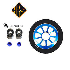 2 HURRICANE PRO STUNT SCOOTER AQUA BLUE METAL CORE WHEELS 110mm ABEC 11 BEARING