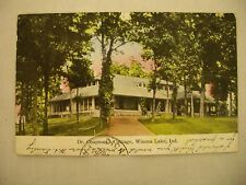 VINTAGE POSTCARD OF DR. CHAPMAN'S COTTAGE IN WINONA LAKE, INDIANA 1908