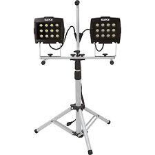 Klutch 2-Headed LED Tripod Worklight- 24 Watts 1,800 Lumens
