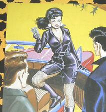 Eric STANTON Fetisch Kult Erotik Postkarte Akt Bdsm Kunst Zeichnung Domina boots