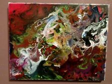 Abstract acrylic painting on canvas 11x14 inches