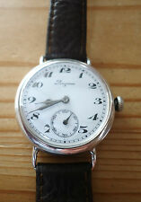 Antique Vintage Longines Silver cased cal' 13.34 15 j Trench watch 1915 34mm