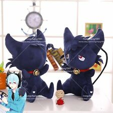 "14"" Anime Servamp Sleepy Ash Black Cat Soft Plush Cushion Doll Stuffed Toy 1PCS"