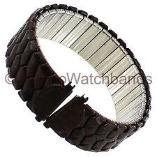 16-22mm Speidel Brown Twist-O-Flex Braided Look Stainless Steel Watch Band