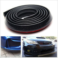 2.5m Black Carbon Fiber Vehicle Bumper Lip Splitter Spoiler Skirt Protector Chin