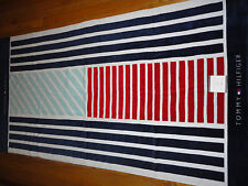 NEW TOMMY HILFIGER BEACH TOWEL 100% COTTON, OCEAN FLAG