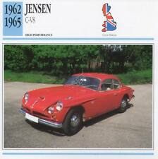 1962-1965 JENSEN C-V8 Classic Car Photo/Info Maxi Card