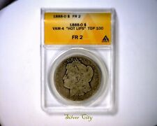 HOT LIPS ANACS FR2 1888O VAM 4 TOP 100 RARE MORGAN SILVER DOLLAR COIN 1888 O