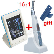 Dental Root Canal Endo Motor Apex Locator + 16:1 Cordless Contra Angle Handpiece