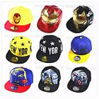 Kids Boys Hip Pop Snap Back Sports School Baseball Cap Hat Costume Accessory
