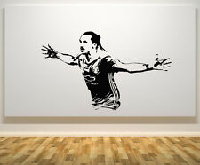 Zlatan Ibrahimovic Manchester United Football Player Decal Wall Sticker Picture