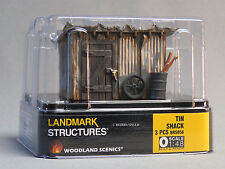 WOODLAND SCENICS TIN SHACK BUILT & READY O GAUGE train land shed WDS 5856 NEW