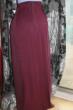 NEW - Per Una - Long Maroon Pencil Elasticated Waist Skirt - Size 12 - Emo, Cool
