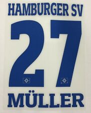 HSV Hamburger SV MÜLLER Player Flock 25 cm fürs adidas Home Trikot 2015-2016