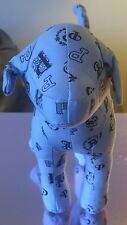 VICTORIA'S SECRET LOVE PINK BLUE MONOGRAM DOG FULL SIZE RARE NEW