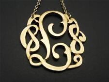 """$16 Carole Initial *L* Pendant & Chain Necklace Goldtone 32"""" Long"""