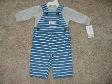 Carters Baby Boy Handsome Striped Overall Outfit Size Newborn NB NWT NEW Clothes