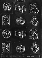 BS HALLOWEEN ASSORTMENT MOLD H6 boo owl Chocolate Candy molds cupcake toppers