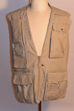 VINTAGE BANANA REPUBLIC SAFARI/PHOTOGRAPHER'S COTTON VEST! POCKETS & STORAGE! L