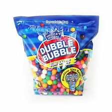 "680 DUBBLE BUBBLE 5/8"" GUMBALLS 3.3 LBS Bulk Vending Machine Candy Gum Ball New"