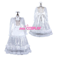 lockable Sissy maid clear PVC transparent long Dress Tailor-made [G2305]