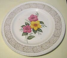 Lovely vintage tea plate with floral pattern Portland Pottery approx 7 ins wide