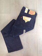 MENS LEVI 501 Dark Blue Classic Straight Leg Levi's Jeans Size W38 x L32 New
