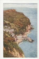 Clovelly From Hobby Drive Vintage Art Postcard 332a