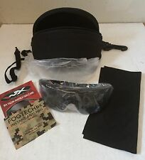 ~NEW! GENUINE US MILITARY WILEY X TALON CHTAL1 BALLISTIC SUN GLASSES SMOKE CLEAR