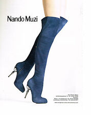 PUBLICITE ADVERTISING  2010   NANDO MUZI   cuissardes chaussures          170513