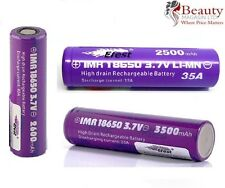 Genuine Efest Purple IMR 18650 2500mah 35A Battery Flat Top