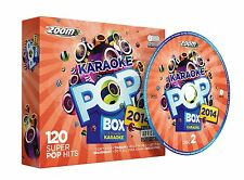 Zoom KARAOKE POP BOX 2014 - 120 Super Pop Hits del 2014 a 6 dischi CDG (zpbx2014)