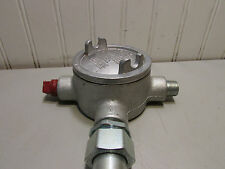 """Cooper Course Hinds GUAT16 1/2"""" Conduit Outlet Box with Cover 13.3 cu.ft. New!"""