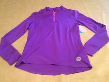 NWT Roxy Large Athletic Long Sleeve Outdoor Fitness Purple Keep Moving Top NEW