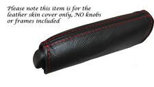 RED STITCH HANDBRAKE HANDLE LEATHER SKIN COVER FITS ALFA ROMEO MITO 08-14