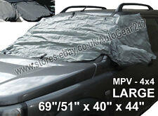 MPV 4x4 Windscreen Windows Mirror Front & Side Frost Snow Ice Protector Cover