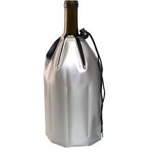 Gel Sleeve Wine/Champagne Bottle Chiller, Bottle Cooler, Ice Pack Gel, Silver