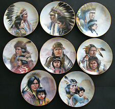 Collection Plates Gregory Perillo Indian Heritage Vague Shadows Set of 8
