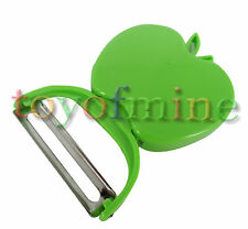 Plegable de Apple vegetal plástico Forma de Apple Peeler Parer Frutas Green