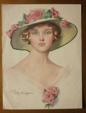 BEAUTIFUL ART NOUVEAU LADY by PENRHYN STANLAWS ~ Lithograph- Gibson girl like
