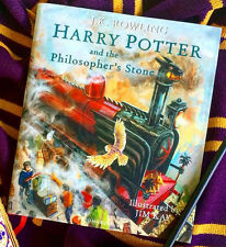 1st Print&Edition Harry Potter Philosopher's Stone illustrated book Sorcerer's