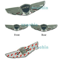 Hyundai GENESIS 2010-2013 PARTS OEM Wing Emblem 2pcs Front & Rear Hood & Tail